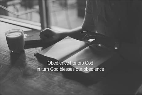 Numbers 36 god honors our obedience2q
