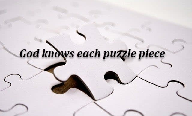 God knows each puzzle piece
