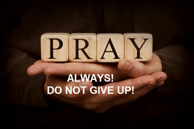 What is your job? It is to pray