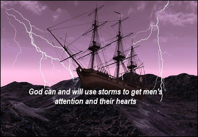 God uses storms