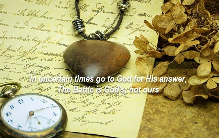 God's battle is not ours