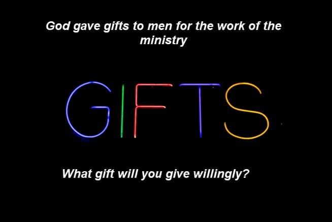 God gifts men/women to do the work of the ministry