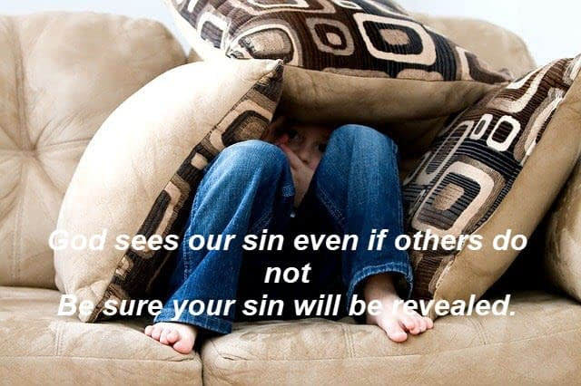 God sees our sin