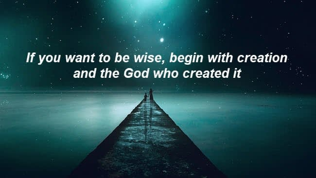 Wisdom comes from God