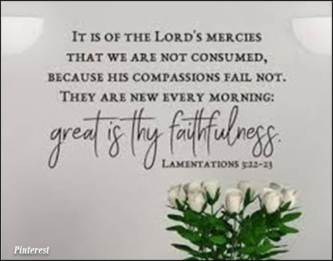 Weeping but God is faithful