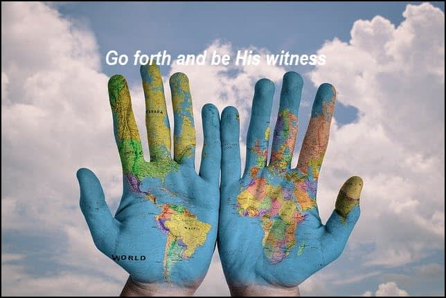 Be the hand that witnesses about Jesus