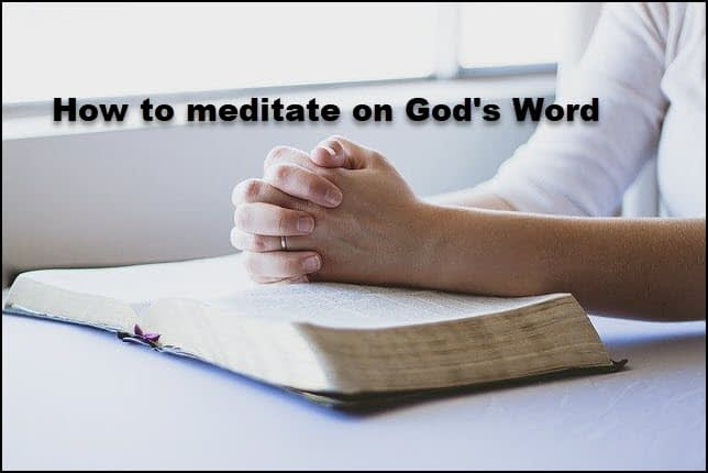 How to read and meditate