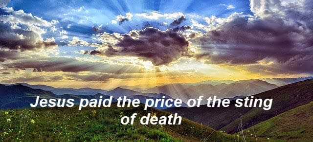 Jesus paid the price