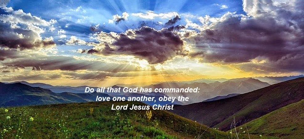 Do all that He commands