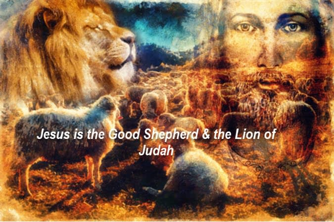 Jesus is shepherd Jesus is Lion of Judah