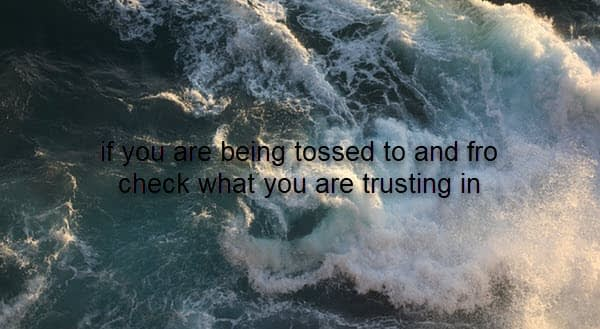 what are you trusting